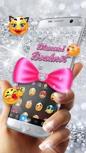 Glitter Bowknot Emoji Keyboard - náhled