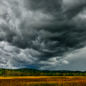 Storm passing Through  by Ernie Page - Landscapes Weather ( national park, storm front, great smoky mountains national park, tennessee, weather, cades cove )