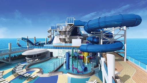 norwegian-bliss-Pool-Deck&Aqua-Park-rendering.jpg - A rendering of the Pool Deck and Aqua Park on Norwegian Bliss.