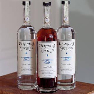 Dripping Springs Vodka Vanilla.