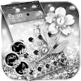 Glitter Silver Theme Wallpaper Diamond Rose icon