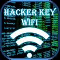 Wifi key hacker simulated icon