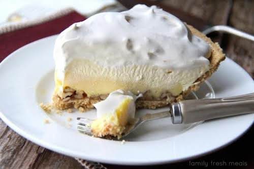 Triple-Layer Eggnog Pie Okay, so this is moderately easy. But for a...