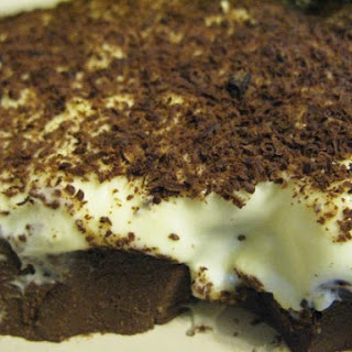 Dark Chocolate Pudding With Vanilla Cream