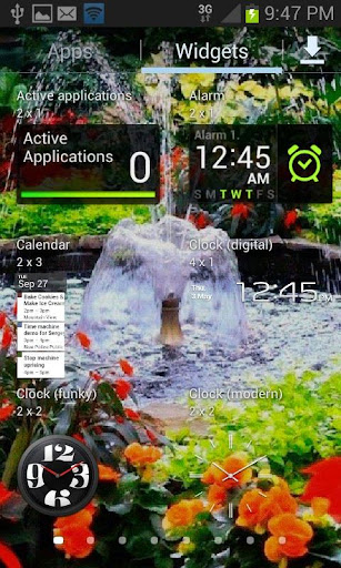 Flowers Park Live Wallpaper ss3