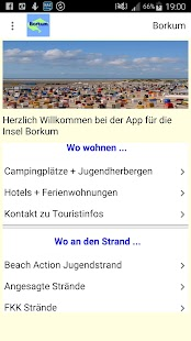 Borkum App- screenshot thumbnail