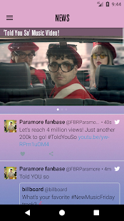 P-MORE: App for Paramore - náhled