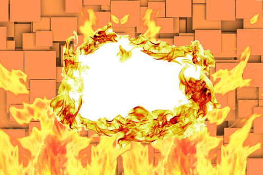 Fire Frames Photo Effects