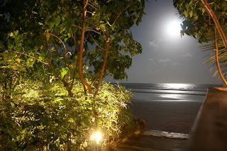 Photo: Pleine lune, Busua Inn, busua beach, west coast, Ghana