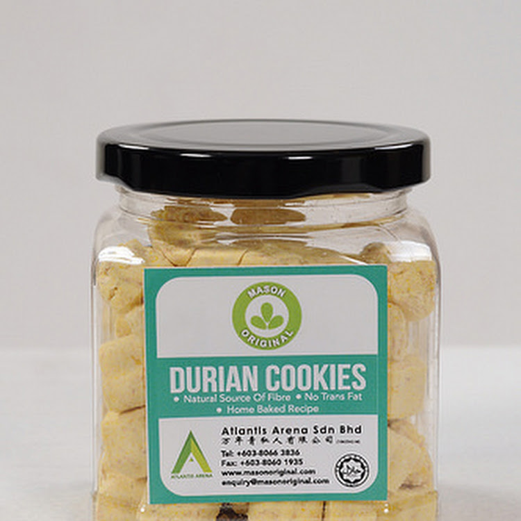 Mason Original Durian Cookies (100g) by Atlantis Arena Sdn Bhd