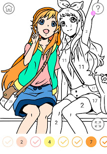 Anime Color by Number - Anime Coloring Book