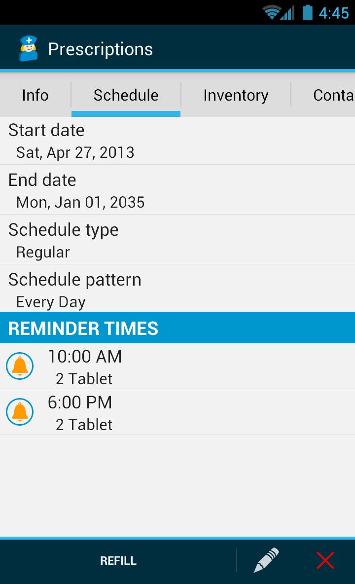 Med Helper Pro Pill Reminder Screenshot 5