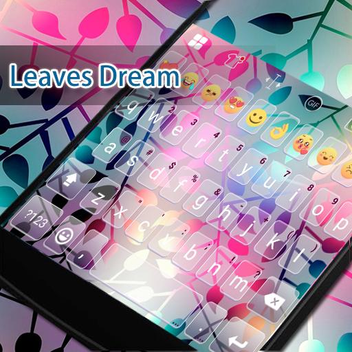 Neon Leaves Eva Keyboard -Gifs 遊戲 App LOGO-硬是要APP