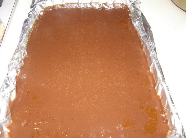 once between 240-250 pour in to prepared dish. allow to cool completely in fridge....