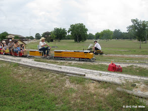 Photo: Engineer Art Morris on UP 9449 with Bill Smith on LNR 13.  HALS 2012-0818 Rick White Photo