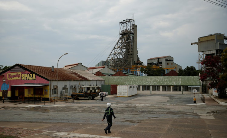 A mine worker walks towards a shaft at Cullinan mine, near Pretoria, on February 1 2019. PICTURE: REUTERS/SIPHIWE SIBEKO