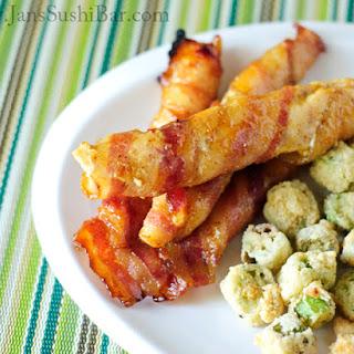 Bacon-Wrapped Honey Mustard Chicken Strips.