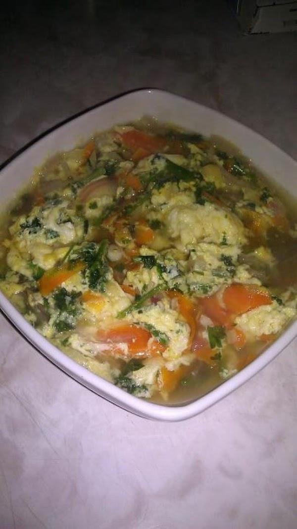 Red Onion Eggdropp Soup Recipe