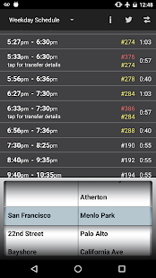 Caltrain Droid- screenshot thumbnail