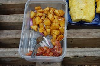 Photo: Carmelized fresh pineapple & bacon