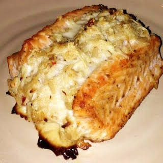 Crab Stuffed Salmon.