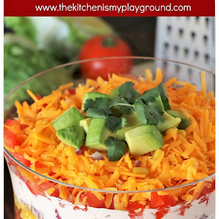 Layered Taco Salad {For a Crowd or Family Taco Night!} (Printable recipe).