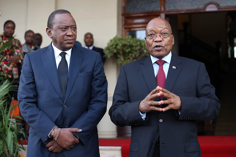 President Jacob Zuma meeting Kenyan President Uhuru Kenyatta at the presidential Dr John Dube House in Durban on Thursday, January 11, 2018. It was Kenyatta's first visit to South Africa since his inauguration on November 28 2016. South Africa and Kenya enjoy very warm bilateral relations underpinned by strong historical and political bonds.
