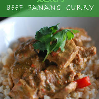 Seester's Beef Panang Curry.
