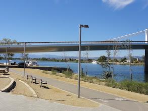 Photo: The new road bridge between Sant Jaume d'Enveja and Deltebre