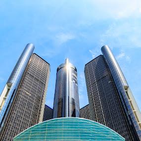 Detroit by Angelica Less - Buildings & Architecture Other Exteriors ( michigan, city, cityscape, detroit, skyline )