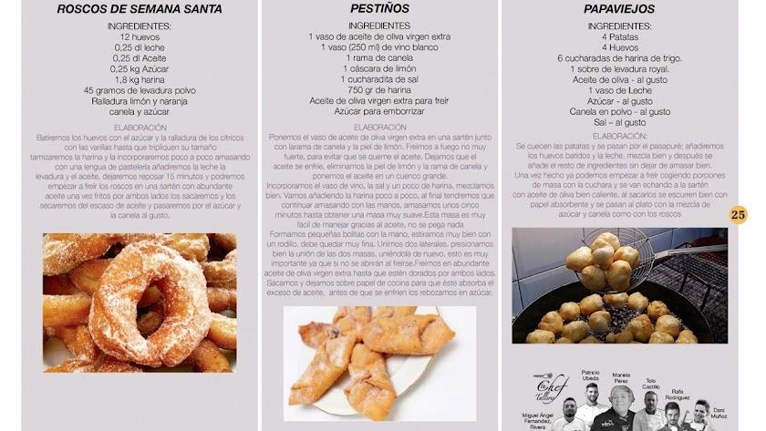 Alguns de las recetas que se pueden consultar.