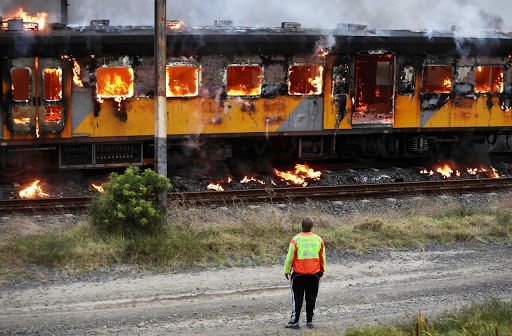 Just 32 trains left in Cape Town after latest fire destroys carriages, locomotive