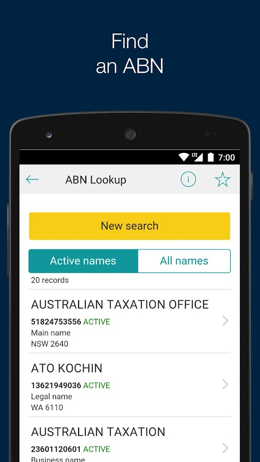 Australian Taxation Office- screenshot