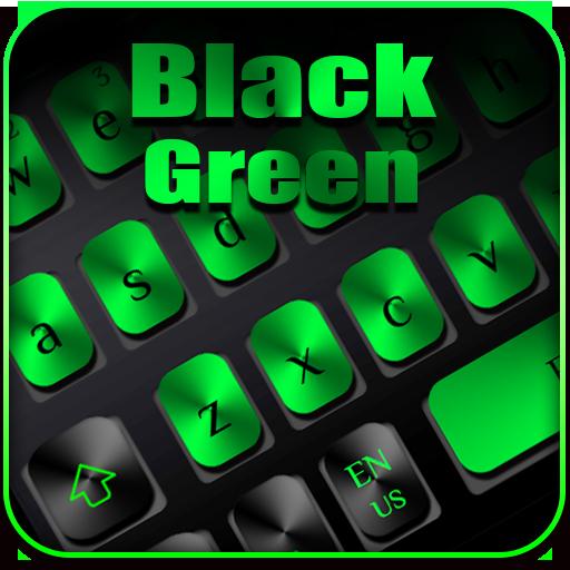 Black Green Metal Keyboard