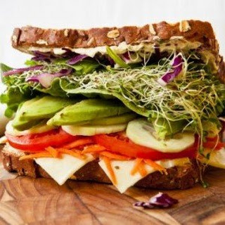Overstuffed Veggie Sandwich.