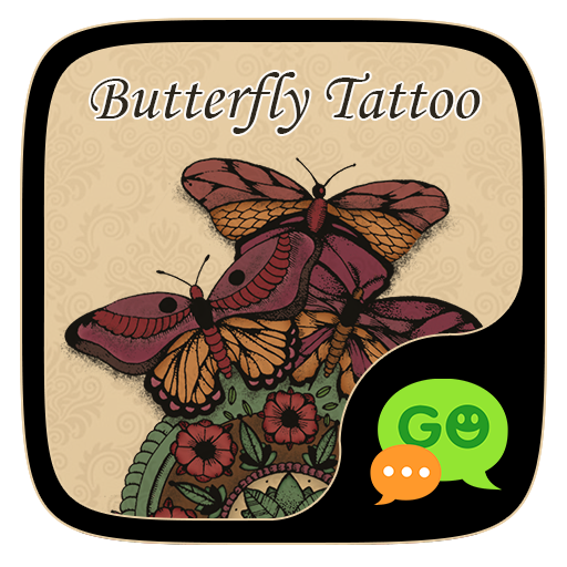 GO SMS BUTTERFLY TATTOO THEME