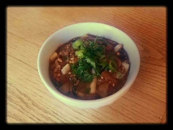 Chicken And Calamari Rice Bowl