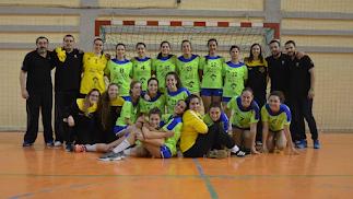 Las jugadoras del Bahía de Almería.