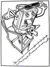 """Photo: This was a cartoon to advertise the """"Stingl Switch,"""" for Spa Parts Plus. The switch was a sensor that turned off the pump of a spa or pool, potentially saving many lives in the event someone got vacuum-sucked onto the vent."""