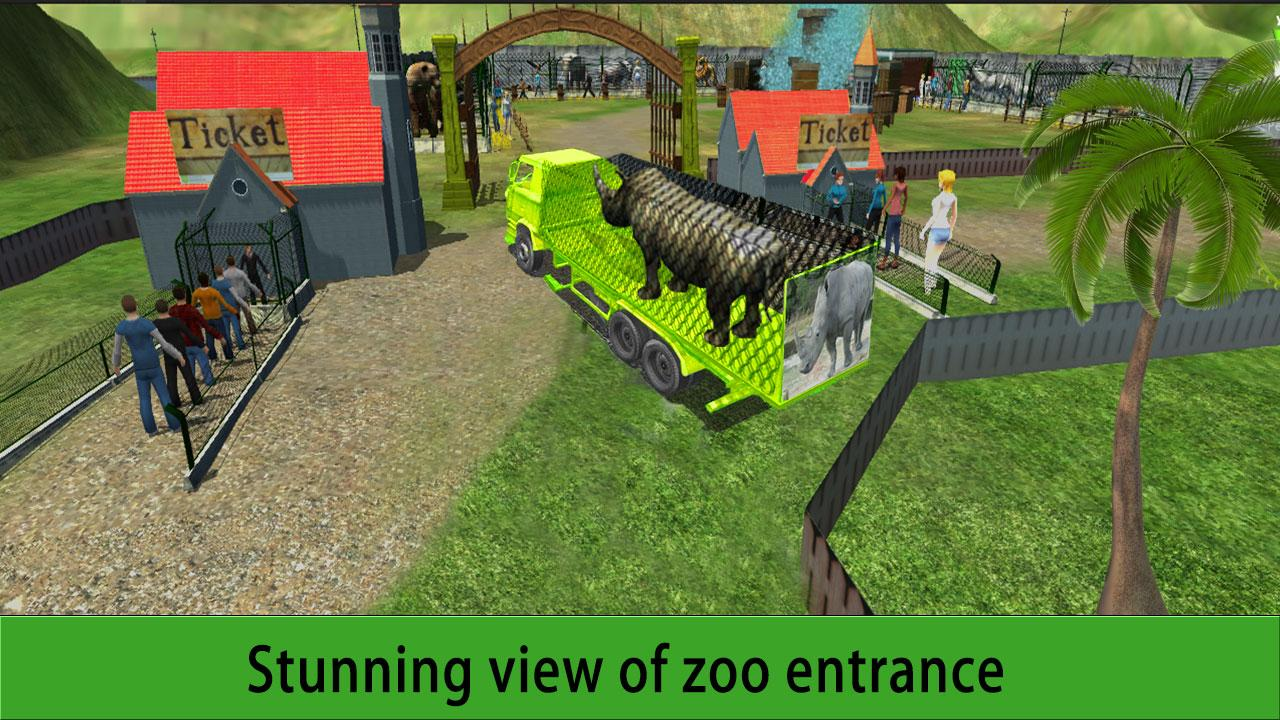 Zoo Animal Transport Truck 3D- screenshot