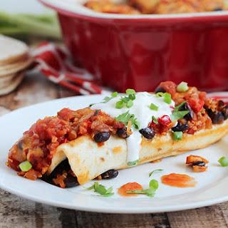 Chicken, Black Bean & Quinoa Enchiladas