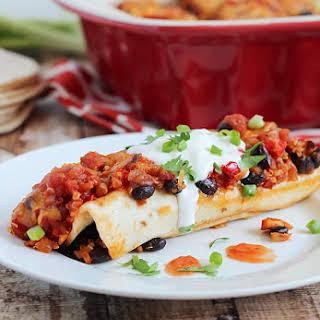 Chicken, Black Bean & Quinoa Enchiladas.