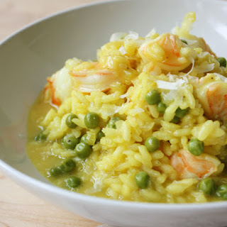 Shrimp & Pea Saffron-Infused Risotto