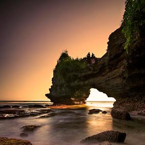 Romancing the stones by Anton Subiyanto - Landscapes Beaches ( sands, water, bali, sunset, long exposure, beach, sunrise, landscape, rocks, slow shutter )