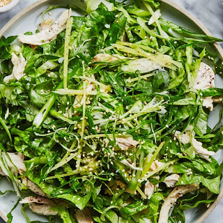 Shredded Chicken Salad with Creamy Miso Dressing.