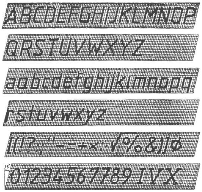 Inclined Lettering