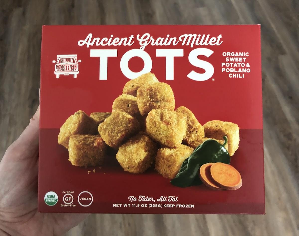 Ancient Grain Millet Tots - Organic Sweet Potato & Poblano Chili