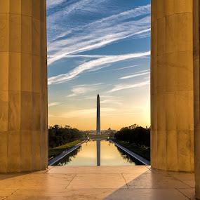 Washington Monument at Sunrises  by Andy Snider - Buildings & Architecture Statues & Monuments ( dc, washington, washington dc )