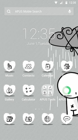 android I MISS YOU theme for APUS Screenshot 0