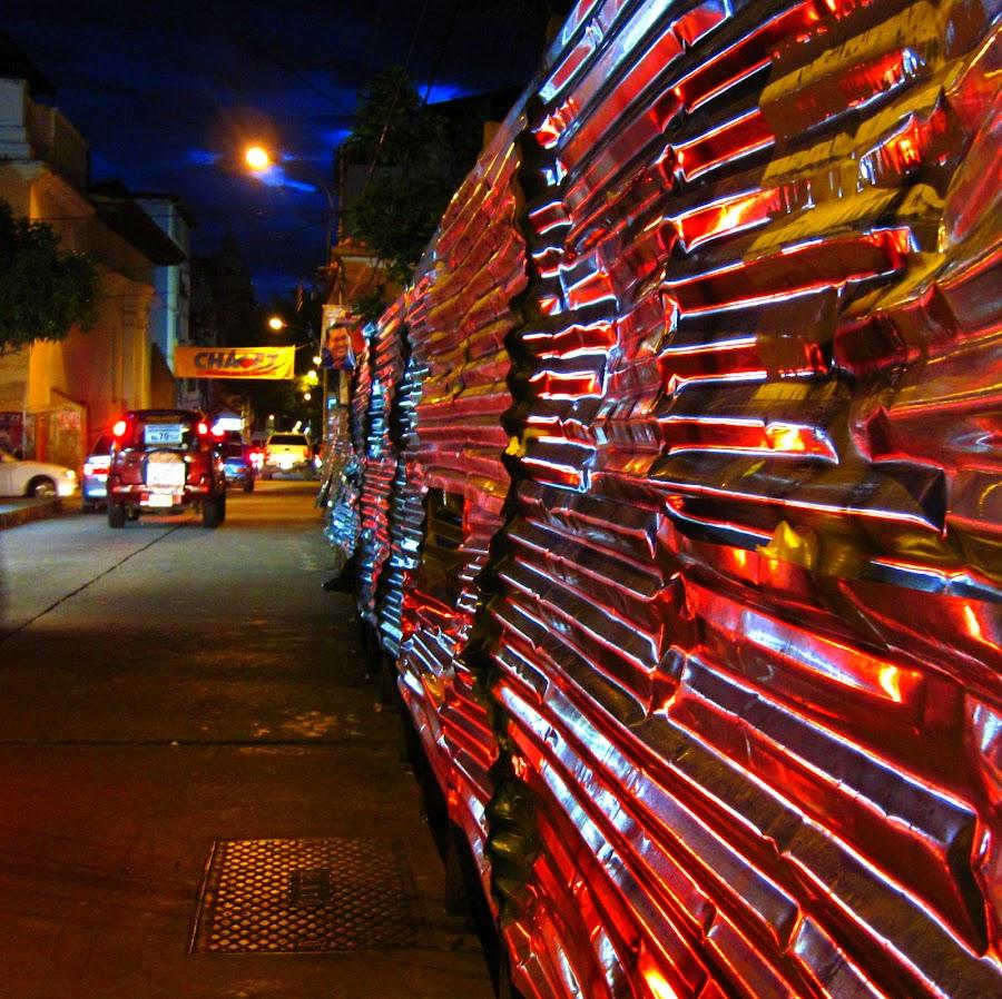 Reflections by Daniel Hunnisett - City,  Street & Park  Street Scenes ( lights, venezuela, reflection, street, evening )